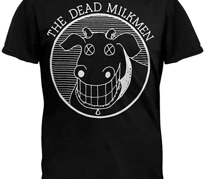 The Dead Milkmen – Cow Logo Black T-Shirt