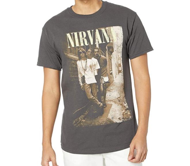 Nirvana Brick Wall Band Photo T-Shirt
