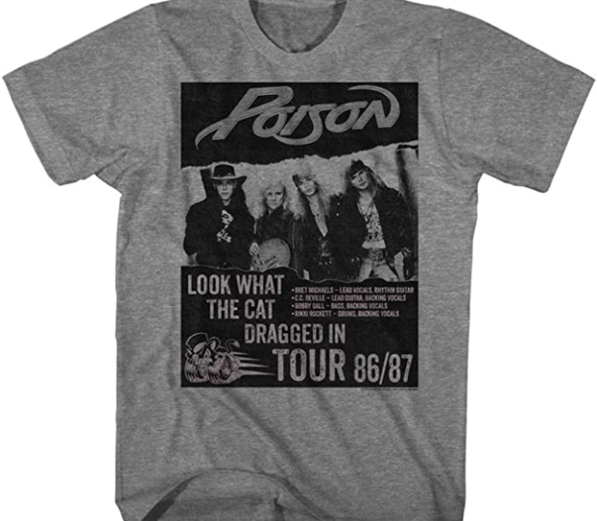 Poison – Look What Tour Cat Dragged In Tour T-Shirt