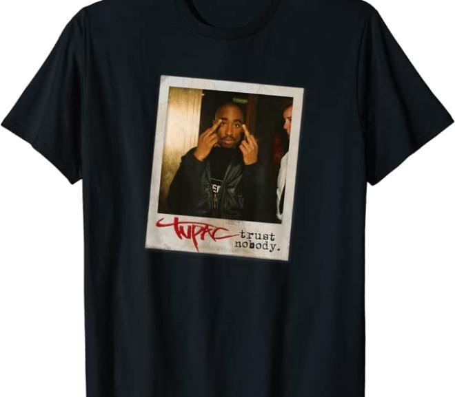 Tupac Trust Nobody Photo T-Shirt