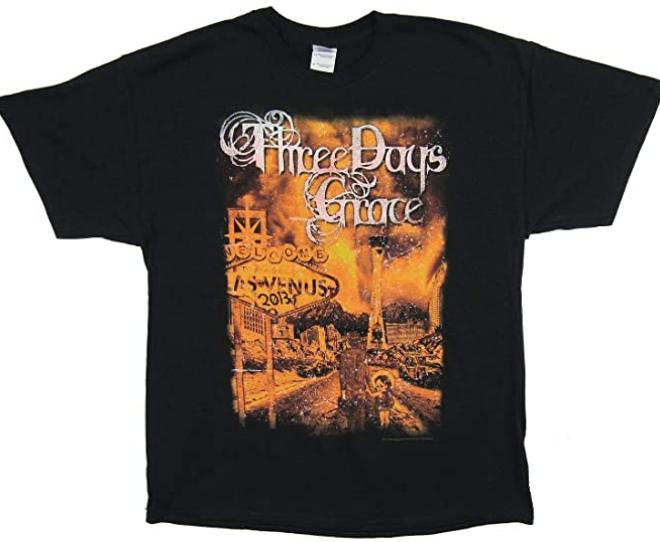 Three Days Grace – Las Venus 2013 Tour T-Shirt
