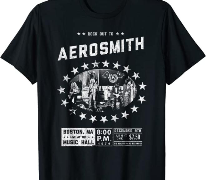 Aerosmith – Live at the Music Hall T-Shirt