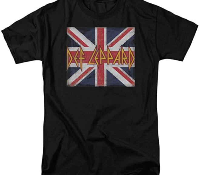 Def Leppard – Union Jack 80's Rock T-Shirt