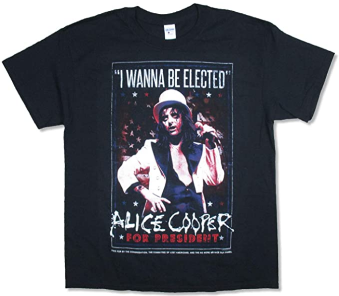 Alice Cooper – Wanna Be Elected 2016 Tour Black T Shirt