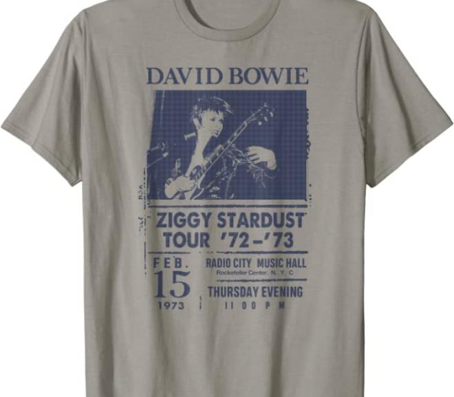 David Bowie – Ziggy Stardust Tour '72 T-Shirt