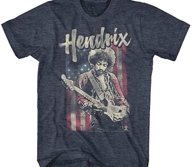 Jimi Hendrix – 1960's Psychedelic Distressed T-Shirt
