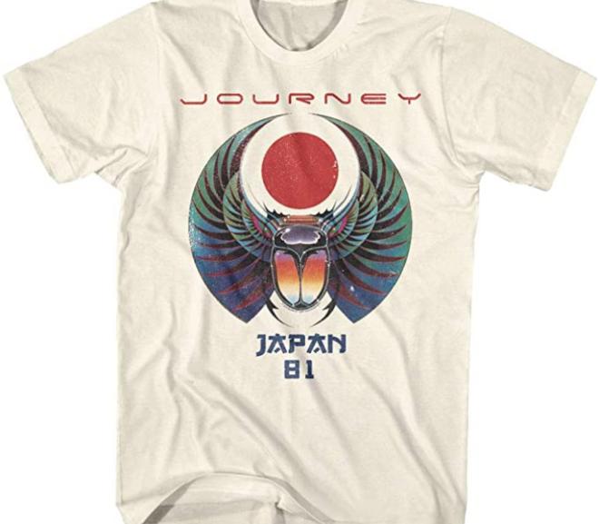 Journey – Scarab Beetle Japan 1981 Tour T-Shirt