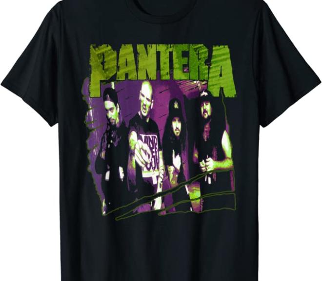 Pantera – Vintage Group Sketch T-Shirt