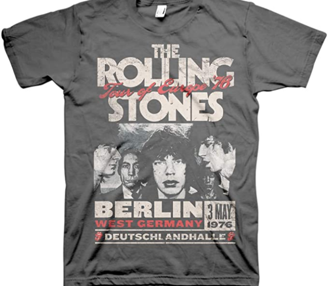 The Rolling Stones – Europe 76 Tour T-Shirt