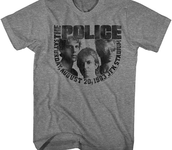 The Police – 1983 JFK Stadium Concert T-Shirt