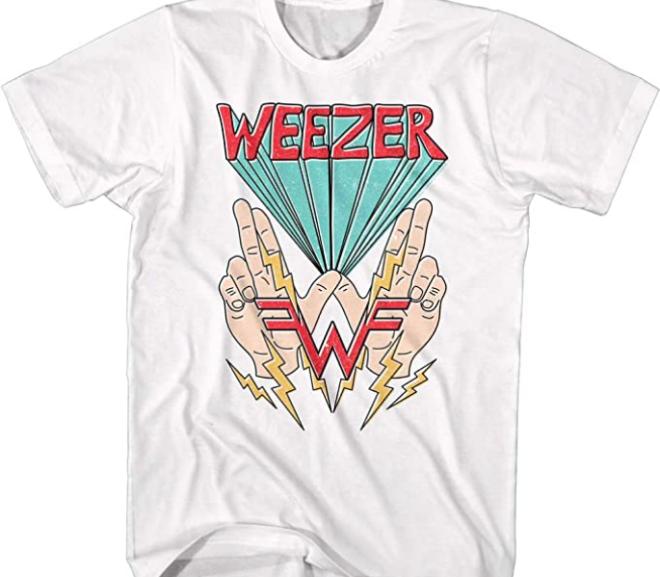 Weezer – Hands & Lightning Logo T-Shirt