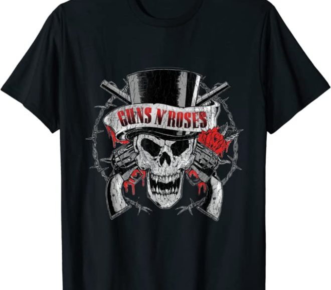 Guns N' Roses – Top Hat Skull T-Shirt