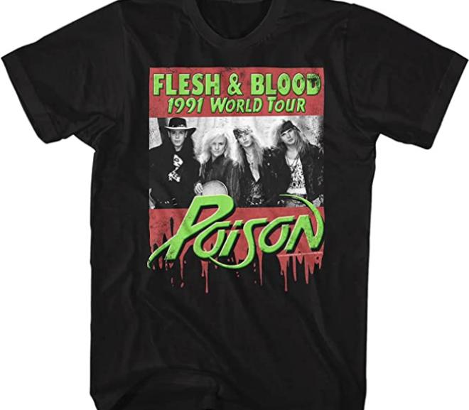 Poison – Flesh and Blood 1991 World Tour T-Shirt